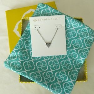 Kendra Scott Silver Drusy Perry Necklace